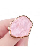 Палитра для смешивания на кольце (розовая)