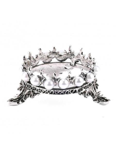 Подставка под кисти корона (чёрное серебро