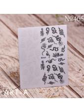 3D наклейки для дизайна ногтей 465