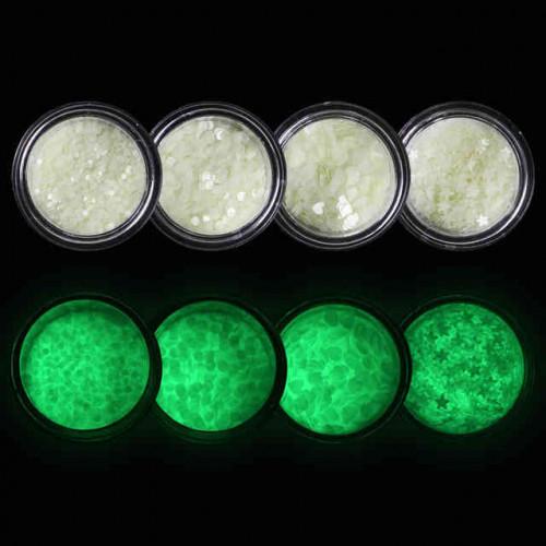 Люминесцентные кругляшки для дизайна ногтей 2мм