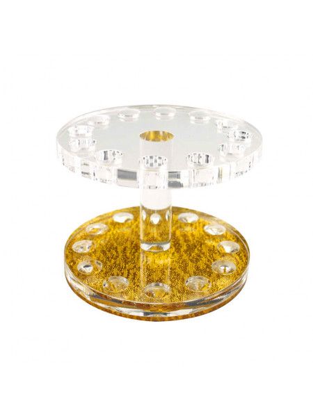 Подставка под кисти на 12 ячеек (золото, круг)