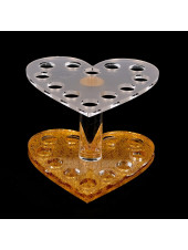 Подставка под кисти на 12 ячеек (золото, сердце)