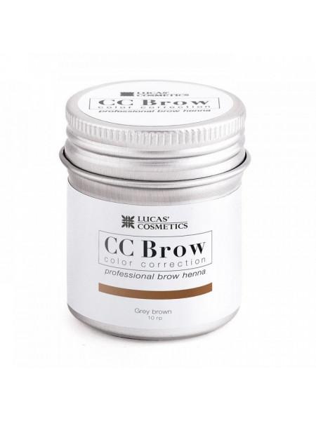 Хна для бровей CC Brow (grey brown) в баночке (серо-коричневый), 5 гр
