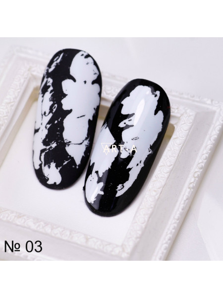 Фольга для дизайна ногтей БЕЛАЯ матовая №3