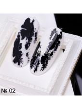 Фольга для дизайна ногтей ЧЕРНАЯ №2
