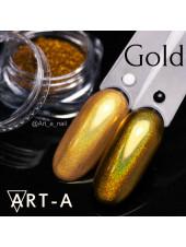Голографический пигмент для ногтей МИРАЖ Gold 0,3гр