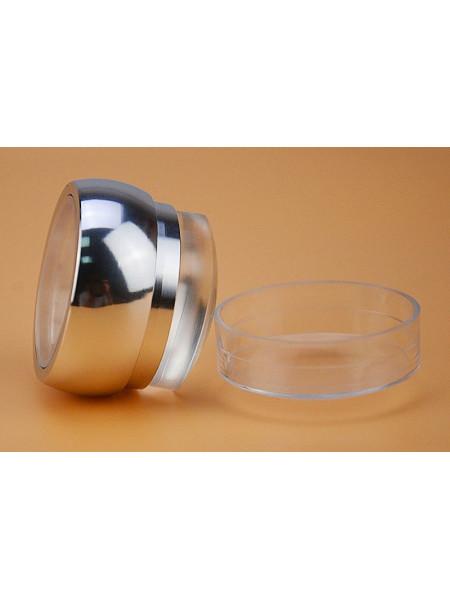 Штамп для стемпинга №2 (серебро) 3,5см + скрапер