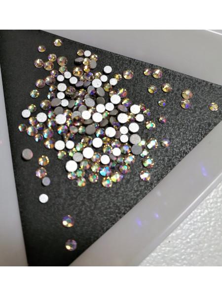 Стразы для ногтей Crystal Purple Flare ss3/4/6/8/10/12. Упаковка около 1728 шт.