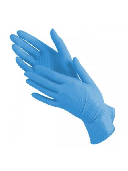 Перчатки нитриловые голубые mediOK, XS 50 пар.