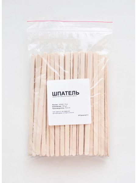 Шпатель деревянный косметологический 140х6х2,3 мм, упаковка 100 штук